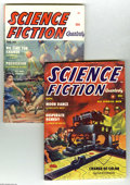Pulps:Science Fiction, Science Fiction Quarterly Group - Yakima pedigree (Columbia,1954-55) Condition: Average VF. This pair of high-grade science...(Total: 2 items Item)