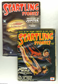 Pulps:Science Fiction, Startling Stories V13#1 and V22#3 Group - Yakima pedigree(Standard, 1946-51) Condition: Average VF. Both of these sciencef... (2 items)