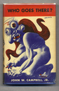 "Books:First Editions, John W. Campbell Jr. - ""Who Goes There ?,"" First Edition (Shasta, 1948). This superb collection of ""Seven Tales of Science-F..."
