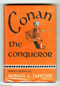 "Books:First Editions, Robert E. Howard -- ""Conan the Conqueror,"" First Edition (Gnome Press, 1950). This was the first time in book form for Conan..."