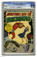 "Golden Age (1938-1955):Horror, Adventures Into the Unknown #16 Northford pedigree (ACG, 1951) CGCNM- 9.2 Cream to off-white pages. This issue contains a ""..."
