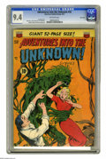 Golden Age (1938-1955):Horror, Adventures Into the Unknown #32 River City pedigree (ACG, 1952) CGCNM 9.4 Off-white pages. Finally, a pre-Code cover guy ta...