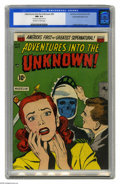 Golden Age (1938-1955):Horror, Adventures into the Unknown #35 Double Cover - Spokane pedigree(ACG, 1952) CGC NM 9.4 Off-white to white pages. This is the...