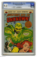 Golden Age (1938-1955):Horror, Adventures Into the Unknown #46 Northford pedigree (ACG, 1953) CGCNM- 9.2 Cream to off-white pages. Ken Bald cover. This is...