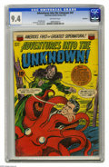 Golden Age (1938-1955):Horror, Adventures Into the Unknown #47 Northford pedigree (ACG, 1953) CGCNM 9.4 Off-white pages. An ardent octopus and a desperate...