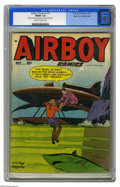 """Golden Age (1938-1955):War, Airboy Comics V7#11 Mile High pedigree (Hillman Fall, 1950) CGCFN/VF 7.0 Off-white to white pages. CGC notes, """"Manufactured..."""