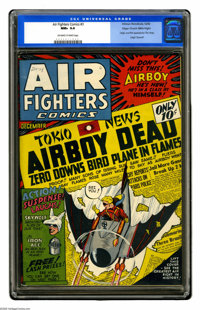 Air Fighters Comics #3 Mile High pedigree (Hillman Fall, 1942) CGC NM+ 9.6 Off-white to white pages. This issue featured...