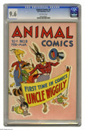 Golden Age (1938-1955):Funny Animal, Animal Comics #2 (Dell, 1943) CGC NM+ 9.6 Off-white pages. Thisincredible eye-catching copy of the second issue of Animal...