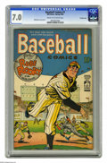 Golden Age (1938-1955):Miscellaneous, Baseball Comics #1 Crowley Copy pedigree (Will Eisner, 1949) CGC FN/VF 7.0 Cream to off-white pages. Will Eisner cover. Eisn...