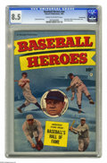 Golden Age (1938-1955):Non-Fiction, Baseball Heroes #nn Crowley Copy pedigree (Fawcett, 1952) CGC VF+8.5 Cream to off-white pages. Babe Ruth and Walter Johnson...