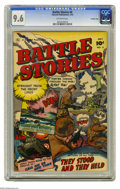 Golden Age (1938-1955):War, Battle Stories #4 Crowley Copy pedigree (Fawcett, 1952) CGC NM+ 9.6Off-white pages. Overstreet 2005 NM- 9.2 value = $65. CG...