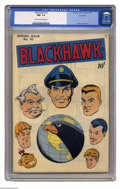 Golden Age (1938-1955):Adventure, Blackhawk #10 Big Apple pedigree (Quality, 1946) CGC NM- 9.2 Cream to off-white pages. Reed Crandall drew the adventures of ...
