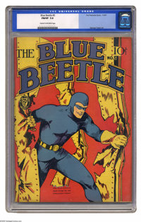 Blue Beetle #5 (Fox Features Syndicate, 1941) CGC FN/VF 7.0 Cream to off-white pages. George Tuska art. Overstreet 2005...
