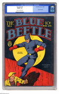 Golden Age (1938-1955):Superhero, Blue Beetle #6 (Fox Features Syndicate, 1941) CGC FN/VF 7.0 Cream to off-white pages. Origin of the Blue Beetle. Overstreet ...