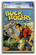 Golden Age (1938-1955):Science Fiction, Buck Rogers #1 (Eastern Color, 1940) CGC VG+ 4.5 Off-white pages.Guess what, the best known copy of this issue is just half...