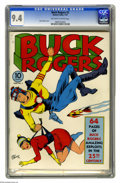 Golden Age (1938-1955):Science Fiction, Buck Rogers #2 (Eastern Color, 1941) CGC NM 9.4 Off-white to white pages. This issue's cover was in the best possible hands ...