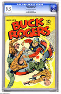 Golden Age (1938-1955):Science Fiction, Buck Rogers #5 (Eastern Color, 1943) CGC VF+ 8.5 Off-white to whitepages. Newspaper strip hero Buck Rogers was a seminal fi...