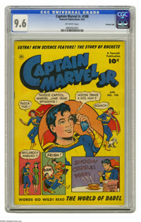Captain Marvel Jr. #108 Crowley Copy pedigree (Fawcett, 1952) CGC NM+ 9.6 Off-white pages. Wendell Crowley edited the Ca...