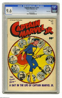 Captain Marvel Jr. #111 Crowley Copy pedigree (Fawcett, 1952) CGC NM+ 9.6 Cream to off-white pages. By 1952, the superhe...