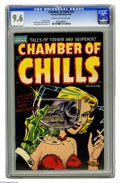 Golden Age (1938-1955):Horror, Chamber of Chills #19 (Harvey, 1953) CGC NM+ 9.6 Cream to off-whitepages. The pristine grade speaks for itself - a NM+ 9.6 ...