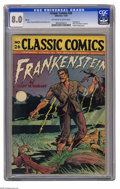 Golden Age (1938-1955):Miscellaneous, Classic Comics #26 Frankenstein - HRN 30 (Gilberton, 1945) CGC VF 8.0 Off-white to white pages. Variant with blank price cir...