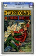 Golden Age (1938-1955):Classics Illustrated, Classic Comics #32 Lorna Doone - Original Edition (Gilberton, 1946)CGC VF- 7.5 Off-white to white pages. Matt Baker art. Ov...