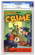 Golden Age (1938-1955):Crime, Down with Crime #4 Crowley pedigree (Fawcett, 1952) CGC NM 9.4 Off-white pages. They fought the law and the law won: some sa...