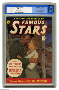 Famous Stars #1 Mile High pedigree (Ziff-Davis, 1950) CGC NM 9.4 Off-white to white pages. Here's a neat-o title we don'...