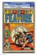 Golden Age (1938-1955):Miscellaneous, Feature Comics #64 San Francisco pedigree (Quality, 1943) CGC NM+ 9.6 White pages. The Doll Man takes center stage on this i...