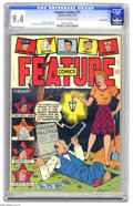 Golden Age (1938-1955):Miscellaneous, Feature Comics #75 San Francisco pedigree (Quality, 1944) CGC NM 9.4 Off-white to white pages. This is the only copy of this...