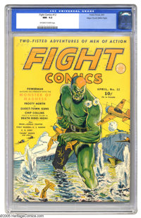Fight Comics #12 Mile High pedigree (Fiction House, 1941) CGC NM- 9.2 Off-white to white pages. This issue's cover -- wh...