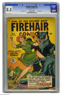 Firehair Comics #1 (Fiction House, 1948) CGC VF+ 8.5 Off-white pages. Firehair, first seen in the pages of Rangers Comic...