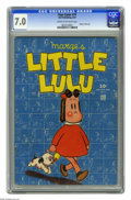 Golden Age (1938-1955):Cartoon Character, Four Color #74 Marge's Little Lulu (Dell, 1945) CGC FN/VF 7.0 Cream to off-white pages. This little lady in red has been goi...