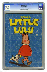 Four Color #74 Marge's Little Lulu (Dell, 1945) CGC FN/VF 7.0 Cream to off-white pages. This little lady in red has been...