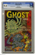 Golden Age (1938-1955):Horror, Ghost #5 Bethlehem pedigree (Fiction House, 1952) CGC NM 9.4Off-white pages. You've got to love a comic with a cover blurb ...