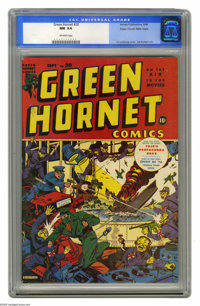 Green Hornet Comics #20 Mile High pedigree (Harvey, 1944) CGC NM 9.4 Off-white pages. Harvey had a nice lineup of artist...
