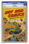 Golden Age (1938-1955):Miscellaneous, Hot Rod Comics #6 Crowley Copy pedigree (Fawcett, 1952) CGC VF/NM 9.0 Off-white pages. Bob Powell cover and art. Overstreet ...