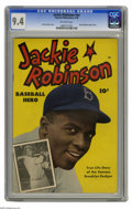 Golden Age (1938-1955):Non-Fiction, Jackie Robinson #nn (Fawcett, 1950) CGC NM 9.4 Off-white pages. Theman who broke baseball's color barrier got his own comic...