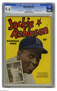 Jackie Robinson #nn (Fawcett, 1950) CGC NM 9.4 Off-white pages. The man who broke baseball's color barrier got his own c...