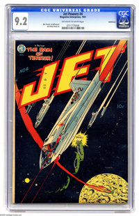 Jet Powers #4 Bethlehem pedigree (Magazine Enterprises, 1951) CGC NM- 9.2 Off-white to white pages. The four issues of t...