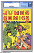 "Golden Age (1938-1955):Science Fiction, Jumbo Comics #10 ""D"" Copy pedigree (Fiction House, 1939) CGC FN+6.5 Cream to off-white pages. Sheena, Queen of the Jungle, ..."