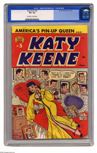 Katy Keene #5 (Archie, 1952) CGC VF+ 8.5 Off-white to white pages. Bill Woggon art. Only copy of issue #5 that CGC has c...
