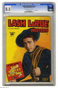 Golden Age (1938-1955):Western, Lash LaRue Western #2 (Fawcett, 1949) CGC VF+ 8.5 Off-white to white pages. Something about a man in black who cracks a whip...