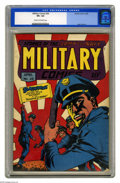 Golden Age (1938-1955):War, Military Comics #28 (Quality, 1944) CGC VF+ 8.5 Cream to off-whitepages. Alex Kotzky created some striking covers for this ...