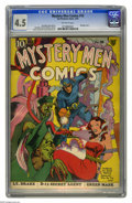 Golden Age (1938-1955):Superhero, Mystery Men Comics #10 (Fox, 1940) CGC VG+ 4.5 Off-white pages. Bondage cover by Joe Simon. Jack Kirby, George Tuska, and Di...
