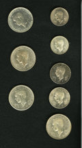 Luxembourg, Luxembourg: Eight-piece group of 1946 silver as follows:... (Total:8 coins)