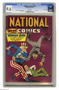 Golden Age (1938-1955):Superhero, National Comics #39 San Francisco pedigree (Quality, 1944) CGC NM+ 9.6 White pages. We've never had the opportunity to offer...