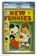 Golden Age (1938-1955):Funny Animal, New Funnies #85 (Dell, 1944) CGC VF/NM 9.0 Cream to off-whitepages. Features include the Brownies (by Walt Kelly), Woody Wo...
