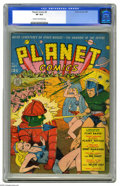 Golden Age (1938-1955):Science Fiction, Planet Comics #8 (Fiction House, 1940) CGC VF 8.0 Cream tooff-white pages. Cover artist Charles Sultan created one of hisb...