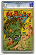 Golden Age (1938-1955):Science Fiction, Planet Comics #11 (Fiction House, 1941) CGC FN 6.0 Off-white pages.This issue has a Dan Zolnerowich cover (according to Ger...